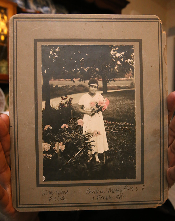 . A graduation photo  of B.J. Snowden�s grandmother, Bertha Mae Parris, who graduated from Howe High School in 1916. SUN /JULIA MALAKIE