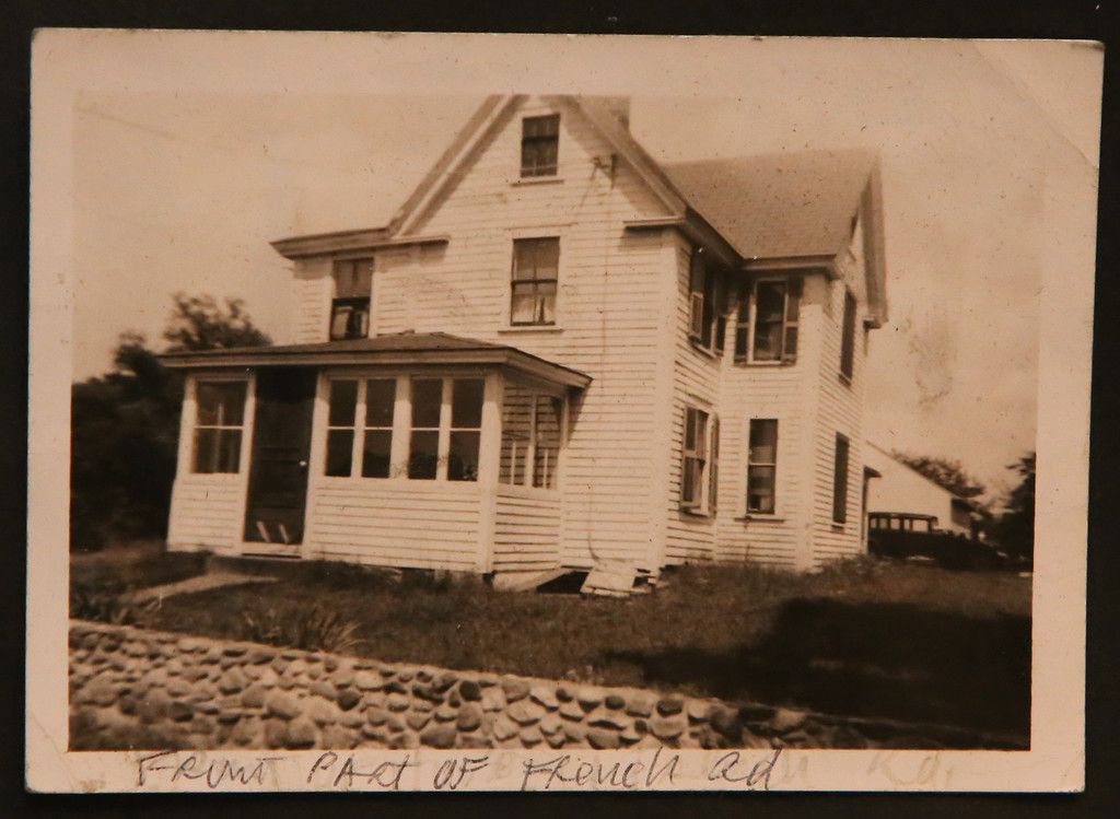 . The house purchased by B.J. Snowden\'s grandparents at 1 French Road in Billerica. The street is now French Street and the house is gone. SUN /JULIA MALAKIE