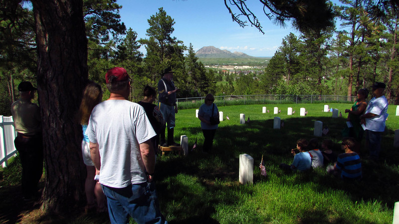 The cemetery closed when the nearby Black Hills National Cemetery opened in 1944.  The old cemetery has a splendid view of Bear Butte to the northeast.