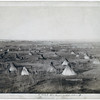 Title: The Great Hostile Camp<br /> Bird's-eye view of a Lakota camp (several tipis and wagons in large field)--probably on or near Pine Ridge Reservation. 1891.<br /> Repository: Library of Congress Prints and Photographs Division Washington, D.C. 20540
