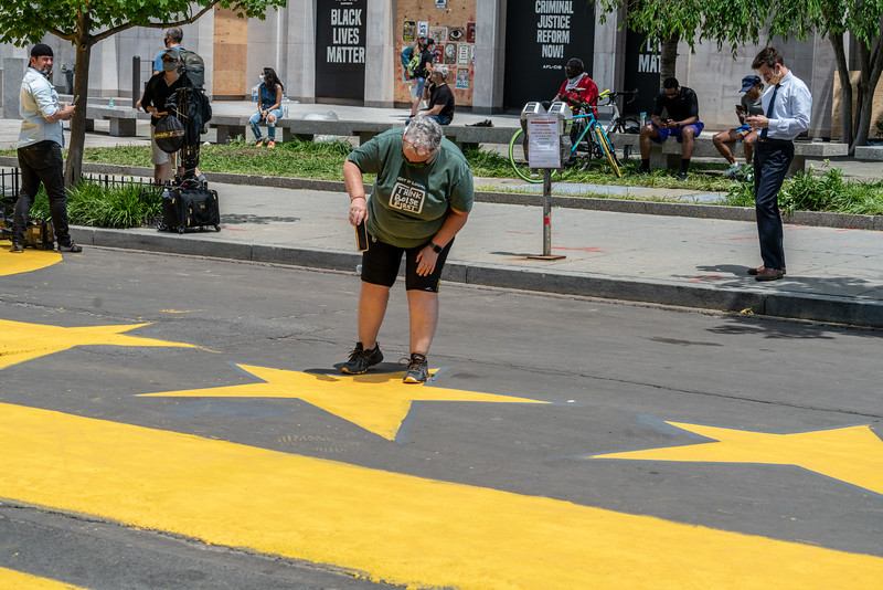 DC decided to name this block Black Lives Matter Plaza and paint the street with that motto and the DC  stars and bars emblem.