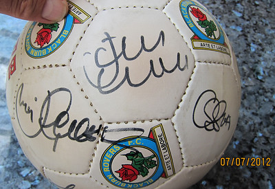 Blackburn Rovers signed ball