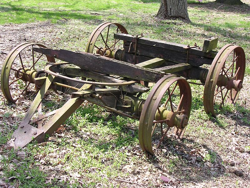 This old wagon was left at the foot of the lawn in front of the house, beside the long lane leading in from the main road.