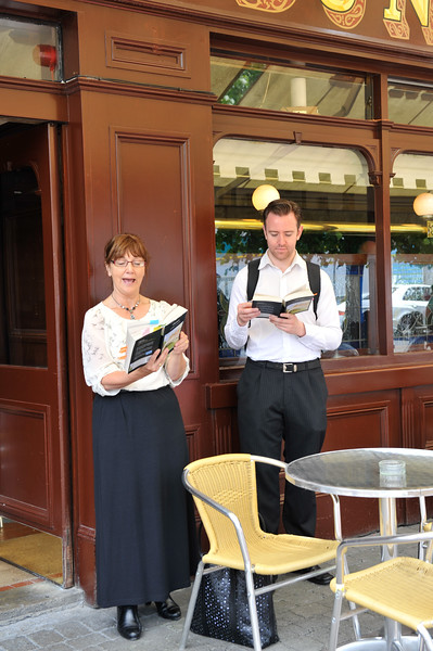 Image features: <br /> Photograph: Margaret Brown<br /> Bloomsday Festival Dún Laoghaire went on from 14-16th June 2014 at various locations around Dún Laoghaire. This image was shot on Sunday 15th June.