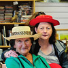 Margaret Brown and Geraldine O'Reilly-Lynch in Sandycove Vintage and Classics Charity Shop in Glasthule on Bloomsday 2016. Photograph: Margaret Brown 2016