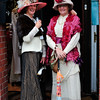 Abina Mullane and Maura Collins in Glasthule on Bloomsday 2016. Photograph: Margaret Brown 2016