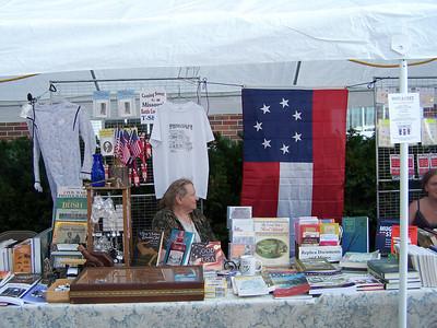 Blue & Grey Book Shoppe booth at Santa-Cali-Gon 2008, center