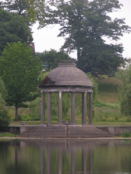 Tempietto. The tempietto at the East end of the Water Garden. It was inspired by the Temple of Love at Versailles.