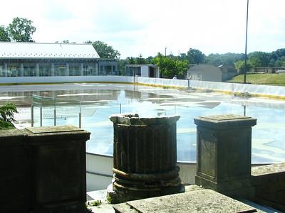 Italian Garden - now a skating rink