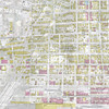 This illustration combines the 1913 Sanborn map with a December 2011 Google Earth aerial.