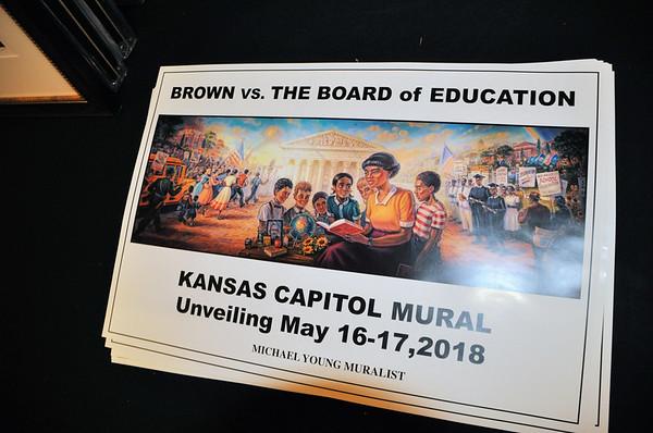 Brown v Board Education Kansas Capitol Mural May 16,  2018