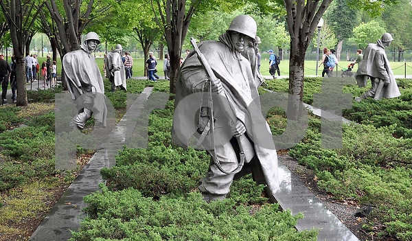 -Messenger photo by Jesse Helling<br /> The Korean War Veterans Memorial is shown here.