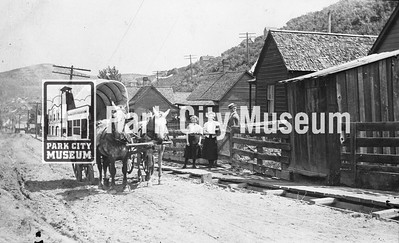 Wagons made deliveries throughout town, including here on Daly Avenue, ca.1911. (Image: 1991-17-4, Lynn Richards Collection)