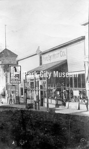 Park City Meat Company was run by the Faulkner family, ca.1915. (Image: 2006-13-2, PCHS Photograph Collection)