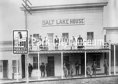 Salt Lake House opened in 1884 as a boarding house for miners and their families at 424 Main. Rebuilt after fire of 1898, as an ornate hotel and dining room with first class service.  Circa 1884-1898. (Image: 1984.70.13, Leland Jerome Paxton Collection)