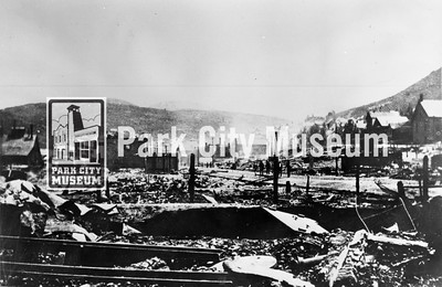 Bottom of Main Street looking south after the Great Fire of 1898 (Image: 2002-26-203, Kendall Webb Collection)
