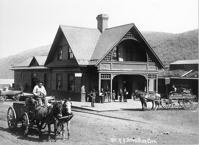 Union Pacific Railroad Depot, ca.1895-1905 (Image: 2007-11-53, Thomas F. Hansen Collection)