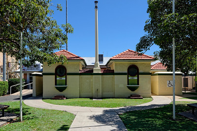 """Not in the show grounds, but just off the main street, these art-deco toilets are kept brightly painted over the road from the post office. Each has its own drinking fountain in front, but what I find intriguing is the labels, """"Ladies"""" and """"Men"""", not """"Gents"""". No gentlemen in this town??"""