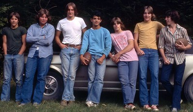 """""""The Bushkill Boys"""" ca. 1974 Left-to-Right: Carl, Andy, Steve, Mike, Rick, Kevin, Chris"""