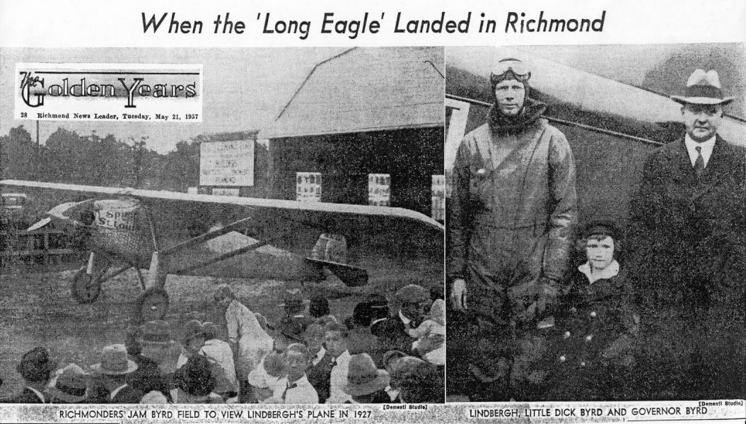 RICHMOND, RICHMOND INTERNATIONAL AIRPORT (BYRD FIELD) (RIC), RICHMOND AIR JUNCTION, 5/21/57