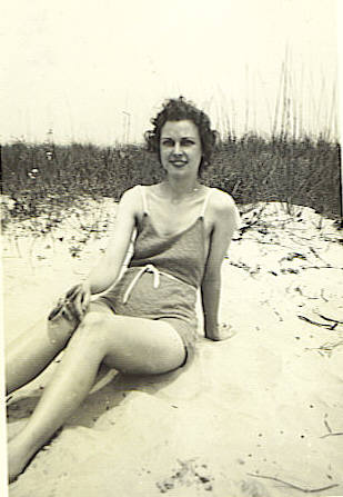 1. Mom at Wrightsville Beach, along the coast at Wilmington, NC.