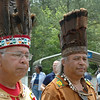 "Chief Adams Upper Mattaponi and Chief Adkins Chickahominy.<br /> At the time of the English colonists' arrival, the tribe was led by a council of elders and religious leaders called the mungal or ""great men,"" rather than a single person."