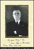 """<B>COUNT GIUSEPPE VOLPI</B>  Inscribed & Signed Photograph of Giuseppe Volpi (born in Venice on November 19, 1877; died in Rome on November 16, 1947) """"Was an Italian businessman and Fascist politician. From 1921 to 1925 he acted as governor of Tripolitania. After this he served as finance minister and then President of Confindustria. As finance minister he had objections to Quota 90. He also founded the Venice Film Festival. His son is automobile racing manager Giovanni Volpi.""""  """"Giuseppe Volpi ( 1877-1947), Count of Misurata, became wealthy at the beginning of the 20th century by exporting tobacco from the Ottoman Empire. He then returned home to Venice, and in 1905 was involved in setting up a company to generate and distribute electricity. His success led him to develop the port and industrial zone of Marghera (Venice) and to buy and manage Venice's best hotels. In 1922, he was appointed Governor of Tripolitania (Lybia), then an Italian colony, and from 1925 to 1928 he was Mussolini's Minister of the treasury and finance. He died 1n 1947 """"  http://en.wikipedia.org/wiki/Giuseppe_Volpi"""