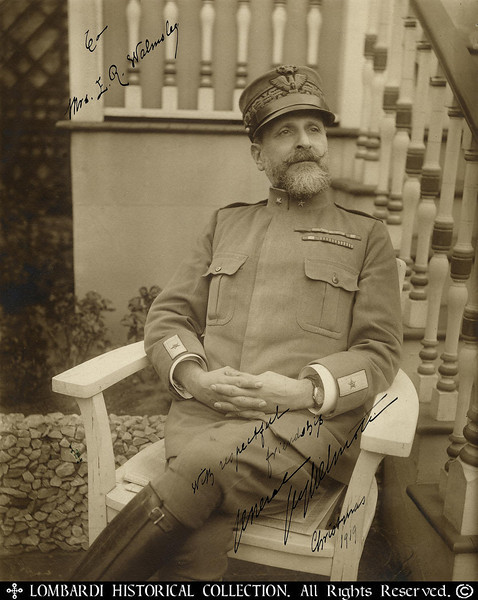 "GENERAL EMILIO GUGLIELMOTTI<br /> <br /> Inscribed & Signed Photograph of Italian WWI General Emilio Guglielmotti.  Military Attache of the Royal Italian Embassy at Washington, D.C. Dated 1919. <br /> <br /> Inscribed:  ""To Mrs. E.R. Walmsley with respectful friendship General Guglielmotti Christmas 1919"".  Handwriting on the reverse states:  ""Gen. Guglielmotti (Rome) one of our best friends. 1952"". 8""x10""<br /> <br /> Awarded U.S. Army Distinguished Service Medal<br /> <br /> Awarded for actions during World War I<br /> <br /> ""The President of the United States of America, authorized by Act of Congress, July 9, 1918, takes pleasure in presenting the Army Distinguished Service Medal to Major General Emilio Guglielmotti, Italian Army, for exceptionally meritorious and distinguished service in a position of great responsibility to the Government of the United States, during World War I, while serving as Military Attache to the Royal Italian Embassy, Washington, D.C.""<br /> <br /> General Orders: War Department, General Orders No. 11 (1919)<br /> Action Date: World War I<br /> Service: Foreign<br /> Rank: Major General"