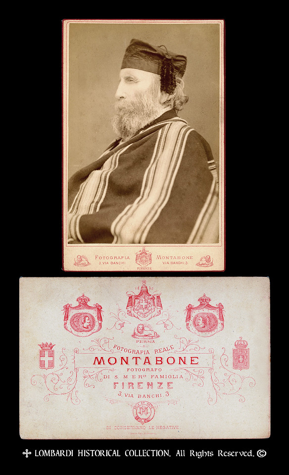 Ca. 1880 Cabinet Card of Gen. Giuseppe Garibaldi
