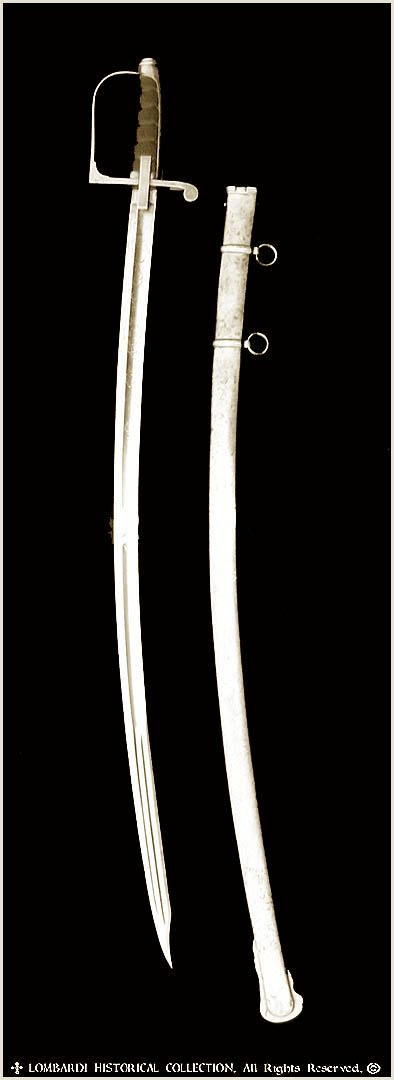 1855 Italian Officer's Saber and scabbard.