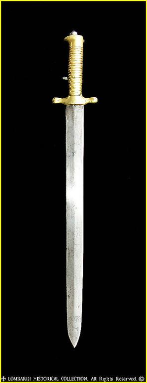 1843 Piemontese Artillery Sword Bayonet.
