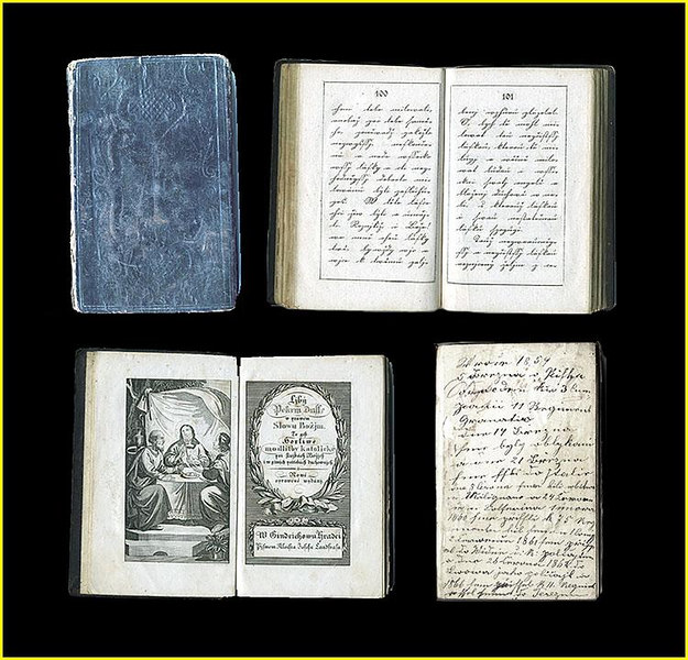 "Personal Prayer Book belonging to an Austro-Hungarian Grenadier at the Battle of Solferino. Inscibed by him in the  Slavic tongue on the front blank flyleaf, his military history, translated here:<br /> <br /> ""In the year 1859, on the 5th of March, in Pisek, I was drafted into the 3rd Company, 11th Regiment of Grenadiers. On the 14th of March we were outfitted and on the 21st of March we went to Italy. On the 8th of June we were in the Battle of Melegnano and on the 24th of June in the Battle of Solferino. On the 1st of February 1860 we came to the 75th Regiment; I was with the 1st Company. On the 2nd of July 1861 I came to Vienna on police duty, and on 26th of June 1862 to Lvov as military police, and in 1866 I came to the 11th Regiment. Arrived at Terezin... On the 28th of September 1866 1 came home on leave and have stayed home since."" <br /> <br /> [Image Copyright, the Lombardi Historical Collection, All Rights Reserved]"
