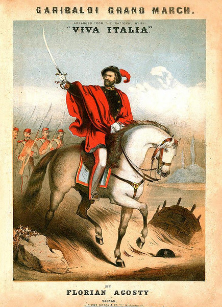 Garibaldi Grand March. Sheet Music Cover. Ca.1860<br /> <br /> [Image Copyright, the Lombardi Historical Collection, All Rights Reserved]