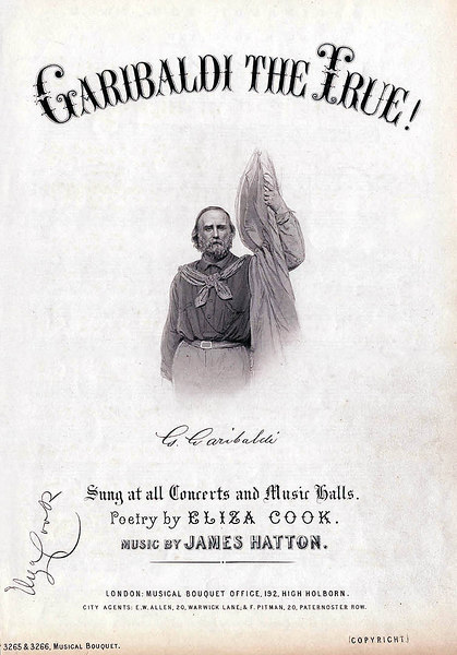 Garibaldi. Sheet Music Cover. Ca. 1865<br /> <br /> [Image Copyright, the Lombardi Historical Collection, All Rights Reserved]