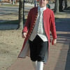 You never know who you might meet in Colonial Williamsburg.