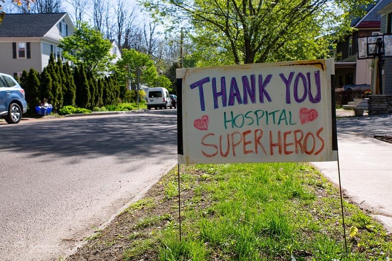 Thank you hospital super heros