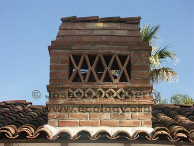 Brick chimney at Asistencia San Antonio de Pala.
