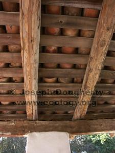 Roofing detail at Asistencia San Antonio de Pala.