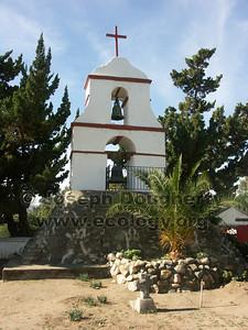 Bell tower at Asistencia San Antonio de Pala.