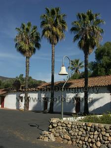 Asistencia San Antonio de Pala with El Camino Real bell.