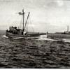 Vagabond,Eagle Harbor 1935 Sea Trials,Creosote Plant Across From Wing Point,Bainbridge Island,Nick Rerecich on Board,
