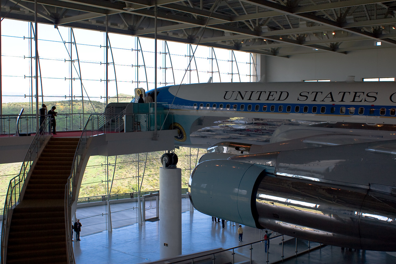 "Air Force One - 27000 <br /> Ronald Reagan Library, Simi Valley California.<br /> <br /> Air Force One served as the ""Flying White House"