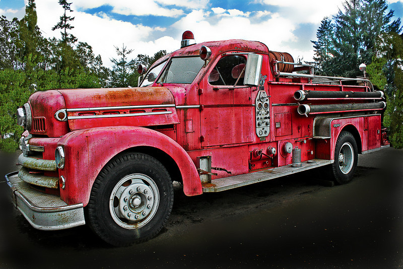 Camp 18 Fire Truck. Old but I bet it could tell lots of stories if it could talk.