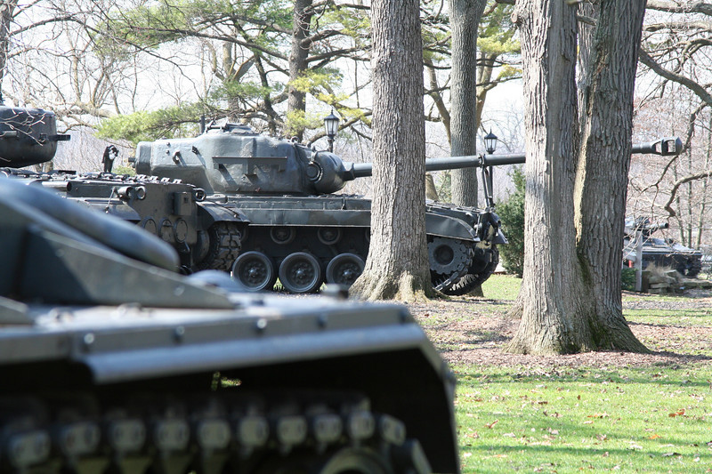 The entrance to Cantigny is decorated by several of the museums tanks.  We couldn't have asked for a more beautiful spring day.