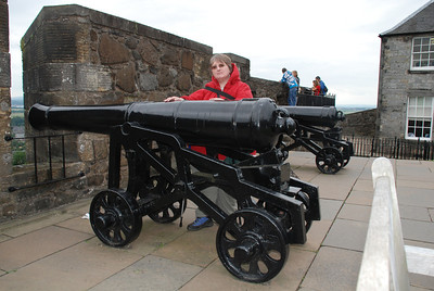 If only I had a match? one of the canons at Stirling Castle