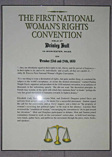 At the Seneca Falls Women's Rights Museum