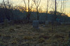The Runkle Cemetery<br /> March 10, 2012; 545pm (Sunset)<br /> Looking West over Route 31.
