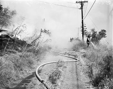 1958, Chavez Ravine Fire