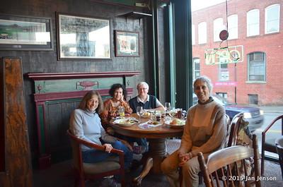 Betty, Ellen, Dottie, Jan at Summit Cafe in Chester, SC  1-5-15