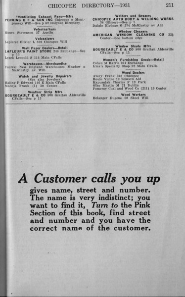 Springfield Chic Bus Directory 1931 17